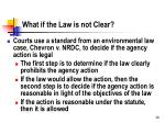 what if the law is not clear