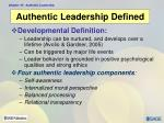 authentic leadership defined5