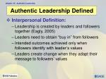 authentic leadership defined6
