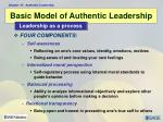 basic model of authentic leadership