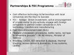 partnerships fdi programme