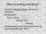 what is writing workshop