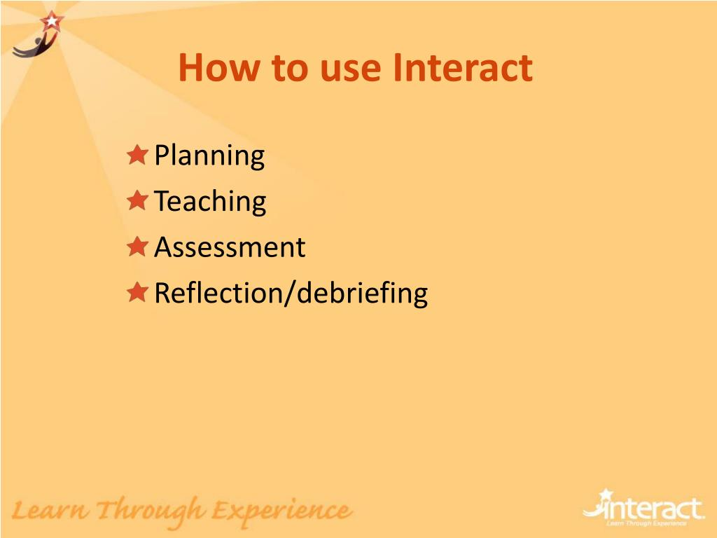 how to use interact l.
