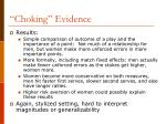 choking evidence