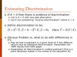 estimating discrimination