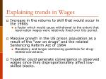explaining trends in wages