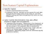 non human capital explanations