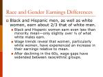 race and gender earnings differences