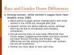 race and gender hours differences