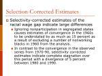 selection corrected estimates