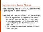 selection into labor market