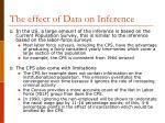 the effect of data on inference