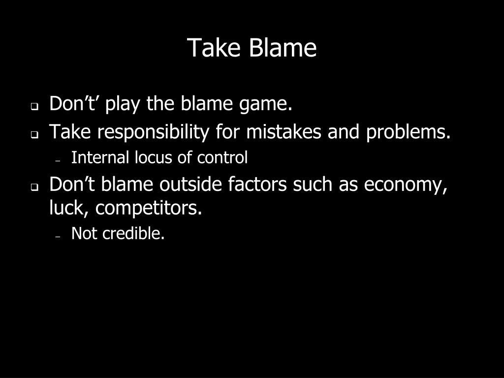 Take Blame
