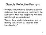 sample reflective prompts