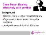 case study dealing effectively with conflict
