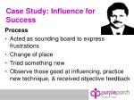 case study influence for success24