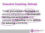 executive coaching defined