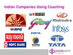 indian companies using coaching