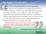 why sustain tlc with eisa
