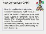 how do you use qar