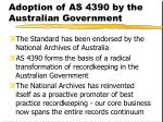 adoption of as 4390 by the australian government