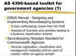as 4390 based toolkit for government agencies 1