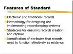 features of standard5