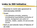 links to iso initiative