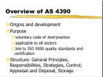 overview of as 4390