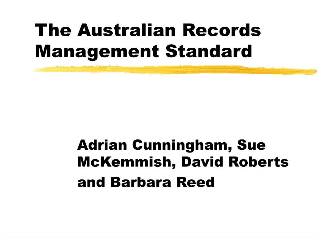 the australian records management standard l.