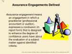 assurance engagements defined