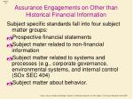 assurance engagements on other than historical financial information