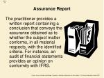 assurance report