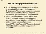 iaasb s engagement standards