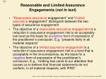 reasonable and limited assurance engagements not in text