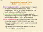 sustainability reporting triple bottom line assurances