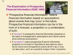 the examination of prospective financial information isae 3400