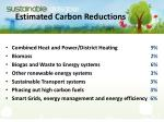 estimated carbon reductions