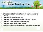 issues faced by cities