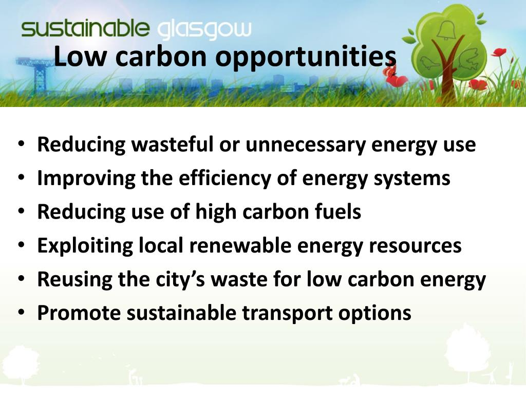 Low carbon opportunities
