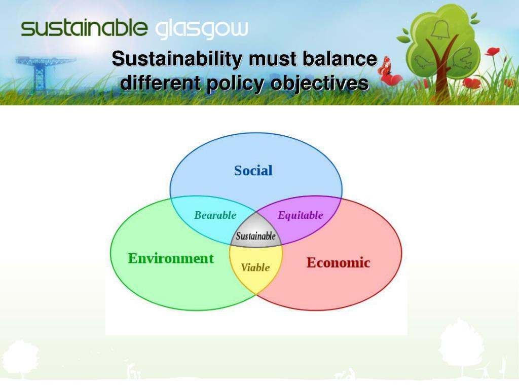 Sustainability must balance