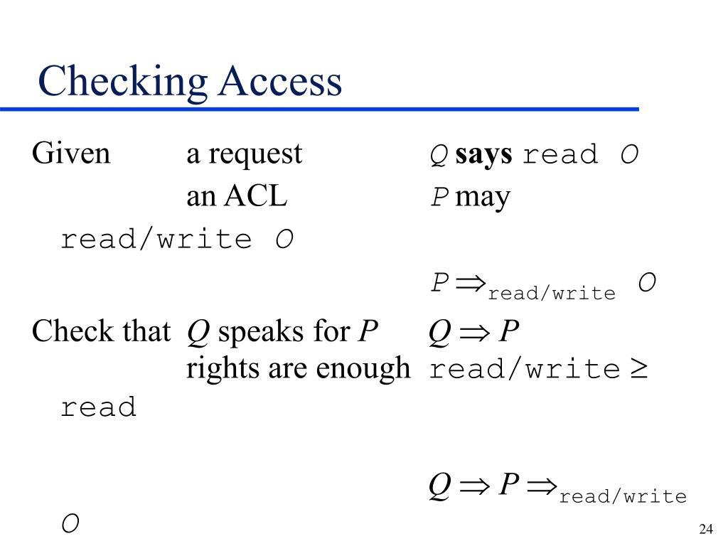 Checking Access