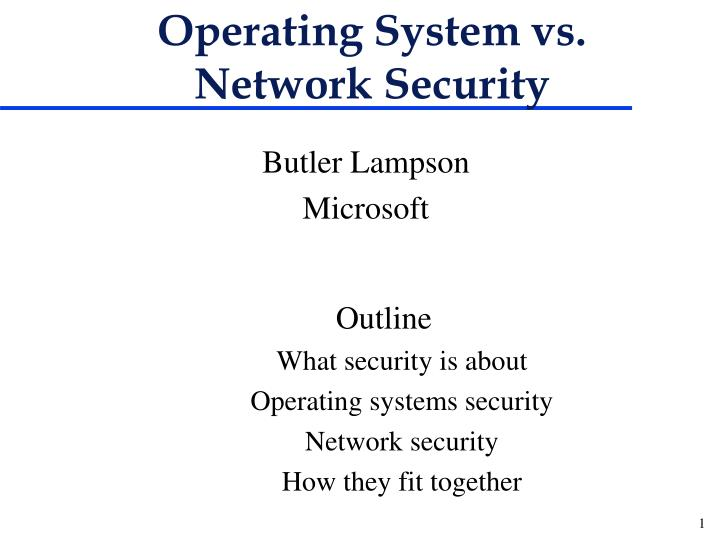 Operating system vs network security