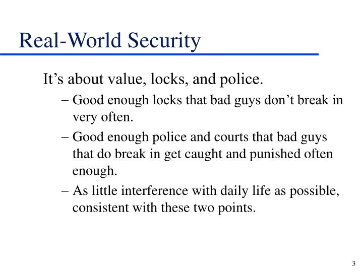 Real world security