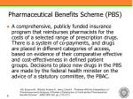 pharmaceutical benefits scheme pbs