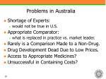 problems in australia