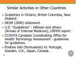 similar activities in other countries
