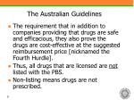 the australian guidelines