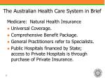 the australian health care system in brief