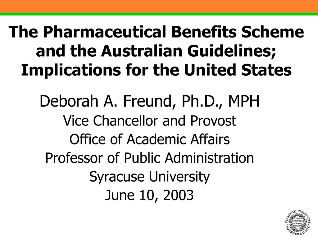 the pharmaceutical benefits scheme and the australian guidelines implications for the united states l.